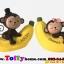 ตุ๊กตาเรซิ่นลิงน้อยตุ๊กตาตกแต่งหน้ารถยอดนิยม ขนาด 7*8 cm. thumbnail 5