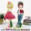 ตุ๊กตาน่ารักเรซิ่นหนุ่มสาววาเลนไทน์ ขนาด 8*10*28 cm. thumbnail 1