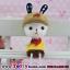 ตุ๊กตาเรซิ่นห้อยขากระต่ายน้อยหูยาวของแต่งบ้านน่ารักๆ ขนาด 5*15 cm. thumbnail 4