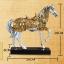 เรซิ่นม้าทองตกแต่งบ้านสุดหรูหรากับสัตว์มงคล ขนาด 8*28*29 cm. thumbnail 7
