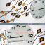 นาฬิกาติดผนังนกยูงคริสตัลทองสุดสวย ขนาด 24*46*92 cm. thumbnail 3