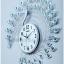 นาฬิกานกยูงคริสตัลเงินติดผนังตกแต่งบ้านหรู ขนาด 23.8*65*65 cm. thumbnail 1