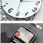 นาฬิกาติดผนังหอไอเฟลคริสตัลเงินสุดโมเดลของแต่งสุดเก๋ทันสมัย ขนาด 24*54*85 cm. thumbnail 8