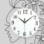 นาฬิกาติดผนังคริสตัสเงินนางฟ้าแห่งกาลเวลา ขนาด 25*50*65 cm. thumbnail 9