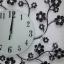 นาฬิกาติดผนังดอกไม้ร่ายรำประดับคริสตังเงินสุดทันสมัย ขนาด 24*53*53 cm. thumbnail 8