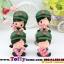 ตุ๊กตาเรซิ่นห้อยขาน่ารักทหารสื่อรัก ขนาด 5*6*8 cm. thumbnail 1