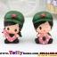 ตุ๊กตาเรซิ่นห้อยขาน่ารักทหารสื่อรัก ขนาด 5*6*8 cm. thumbnail 5