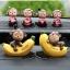 ตุ๊กตาเรซิ่นลิงน้อยตุ๊กตาตกแต่งหน้ารถยอดนิยม ขนาด 7*8 cm. thumbnail 6