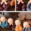 ตุ๊กตาเรซิ่นห้อยขาเณรน้อยปิดหู ปิดตา ปิดปาก ตุ๊กตาวางหน้ารถยอดนิยม ขนาด 5*5.5 cm. thumbnail 6