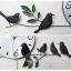 นาฬิกาติดผนังสไตล์เก๋ๆโมเดลๆกับเหล่านกน้อยน่ารัก ขนาด 24*55*70 cm. thumbnail 2