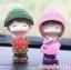 ตุ๊กตาเรซิ่นห้อยขาน่ารักตกแต่งหน้ารถ ขนาด 6*10 cm. thumbnail 6