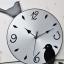 นาฬิกาติดผนังสไตล์เก๋ๆโมเดลๆกับเหล่านกน้อยน่ารัก ขนาด 24*55*70 cm. thumbnail 11