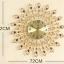 นาฬิกาติดผนังประดับคริสตัลทองแต่งบ้านสุดหรูล้อมงินล้อมทอง ขนาด 25*72*72 cm. thumbnail 3
