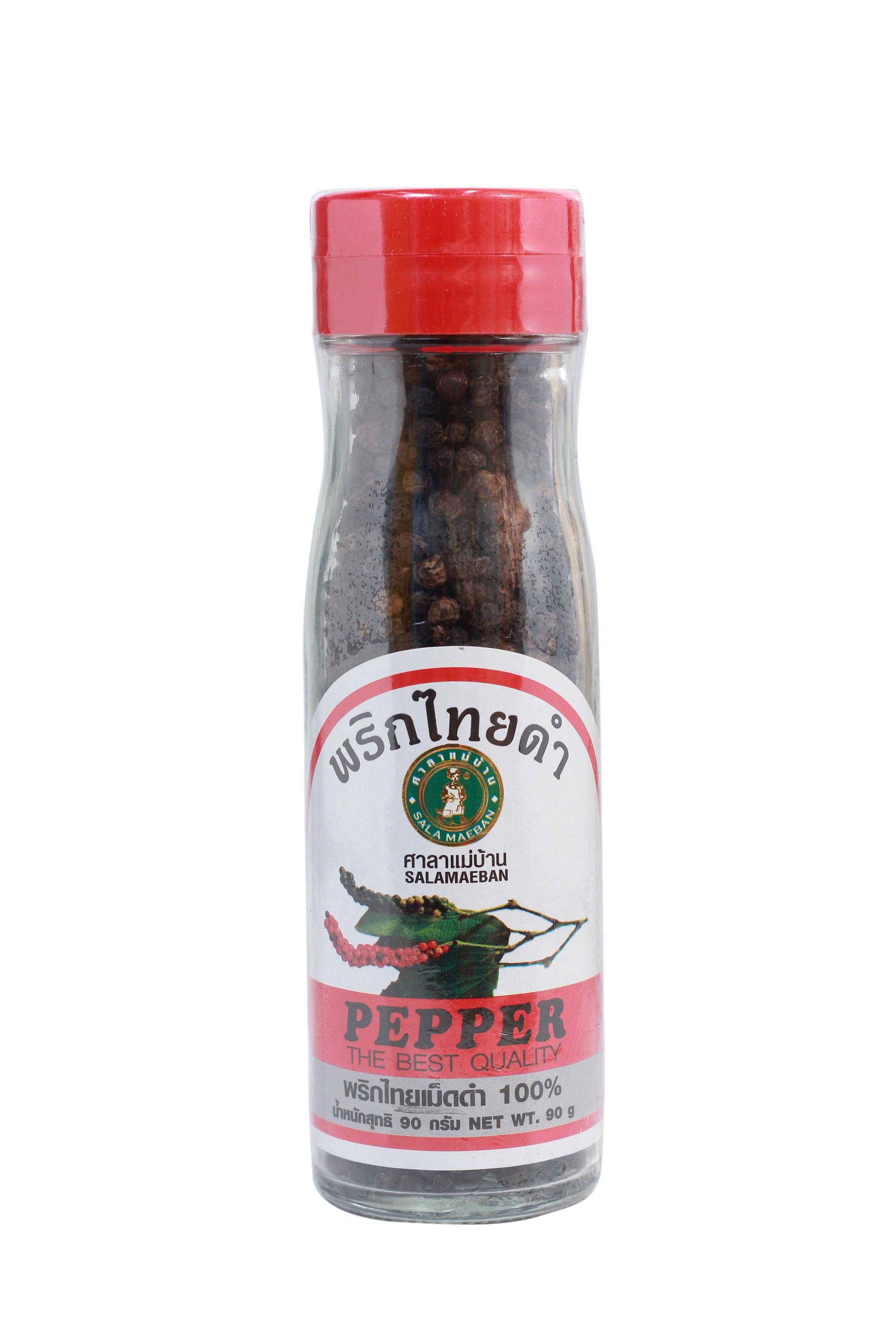 BLACK PEPPER (WHOLE) - พริกไทยเม็ดดำขวดใหญ่แม่บ้าน