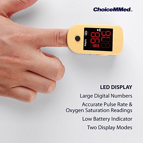 เครื่องวัดออกซิเจนปลายนิ้ว ChoiceMMed Fingertip Pulse Oximeter รุ่น MD300C1  - M Care Shop - เครื่องผลิตออกซิเจน ราคาถูก ส่งฟรี มีของแถม