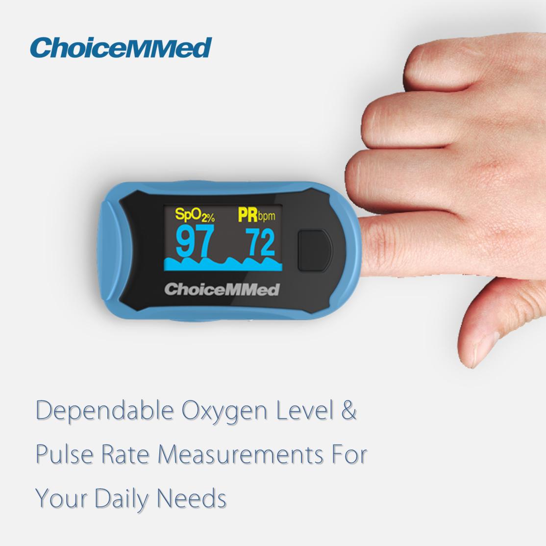 เครื่องวัดออกซิเจนปลายนิ้ว ChoiceMMed Fingertip Pulse Oximeter รุ่น  MD300C29 - M Care Shop - เครื่องผลิตออกซิเจน คุณภาพดี ส่งฟรีทั่วประเทศ